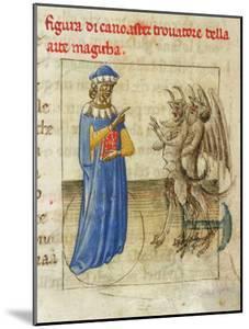 Zoroaster with Two Demons (Miniature from Pseudo-Aristotle Secretum Secretoru), 1425