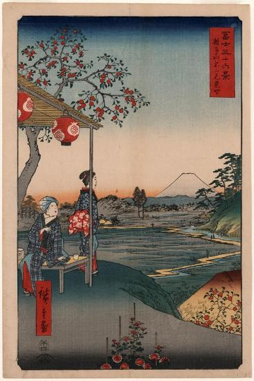 Zoushigaya Fujimi Chaya-Utagawa Hiroshige-Giclee Print