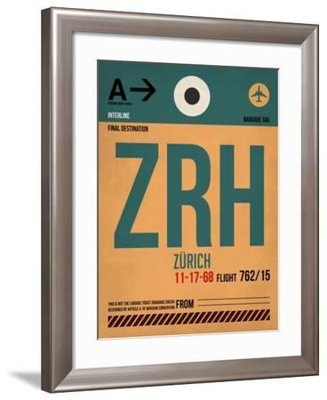 ZRH Zurich Luggage Tag 1-NaxArt-Framed Art Print