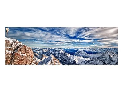 Zugspitze & Mountains Germany--Art Print