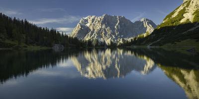Zugspitze, Seebensee, Miemingen Mountains, Tyrol, Austria-Rainer Mirau-Photographic Print