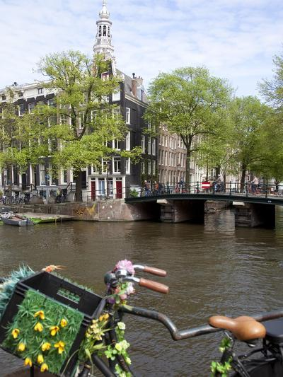 Zuiderkerk and Canal, Amsterdam, Holland, Europe-Frank Fell-Photographic Print