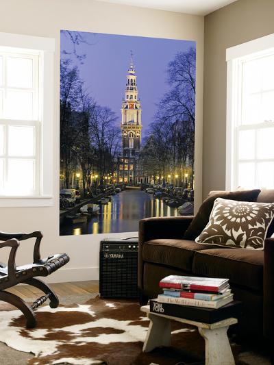 Zuiderkerkand Canal at Night, Amsterdam, Holland-Jon Arnold-Wall Mural