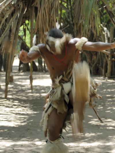 Zulu Tribal Dance Group, Dumazula Cultural Village, South Africa, Africa-Peter Groenendijk-Photographic Print