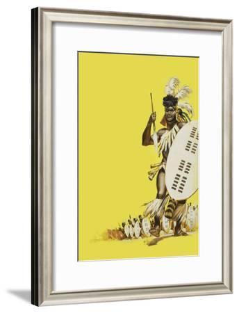 Zulu Warriors-Mcbride-Framed Giclee Print