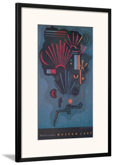 Zunehmen-Wassily Kandinsky-Framed Art Print