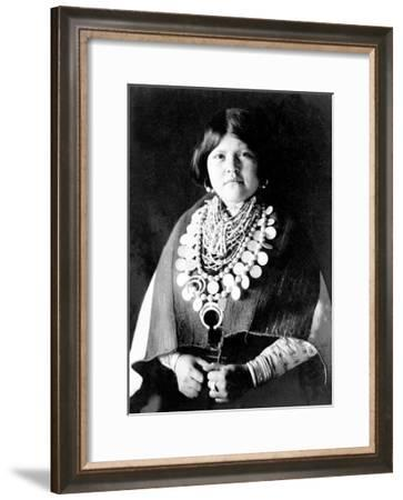Zuni Ornaments-Edward S^ Curtis-Framed Giclee Print