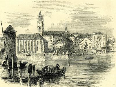 Zurich Cathedral Switzerland--Giclee Print