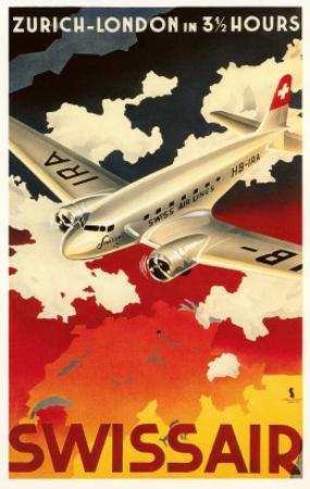 Zurich London Travel Poster