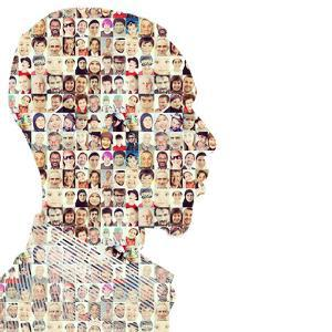 Man People Collage Faces Double Exposure by zurijeta