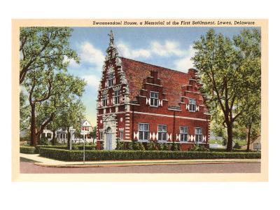Zwaanendael House, Lewes, Delaware--Art Print