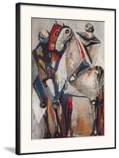 Zwei Reiter-Marino Marini-Framed Art Print