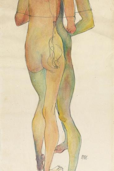 Zwei Stehende Akte, 1913-Egon Schiele-Giclee Print